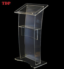 Factory Directly Matt Clear Acrylic Podium for Meeting Room Hotel or School