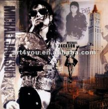 pop selling Michael jackson print canvas painting wall decor 2012(HT10626)
