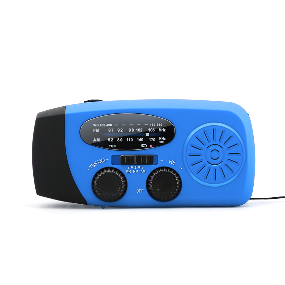 Amazon hot sale hand crank radio with power solar sangean with 1 <strong>W</strong> LED flashlight for Esky
