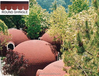 Wholesale round colored asphalt roofing shingles,waterproofing roofing shingles for house using