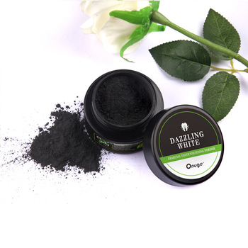 Activated bamboo charcoal mint flavor powder for teeth whitening
