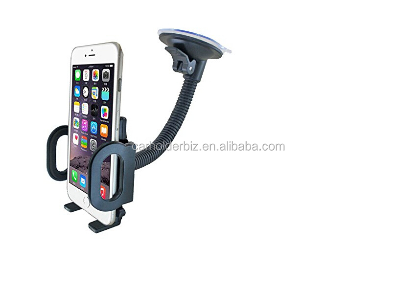 universal Windshield Car Mount Holder Adjustable Cradle for Smartphones GPS Navigation with Suction Cup Design,