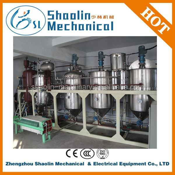 500kg/1ton/2t/3t/5t Small-scale machine to refine vegetable oil price