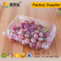 Eco-Friendly PET disposable plastic vegetable and fruit strawberry kiwi punnet salad packaging