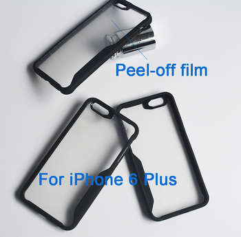 Crystal Clear PC TPU Combined Bumper case cover for iPhone 6 Plus
