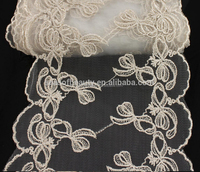 14 Yards 19CM Width Embroidery Lace Trim Fabric for Clothing Garment Lace Accessories