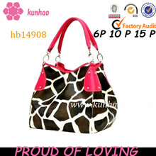 giraffe leather beaut purse