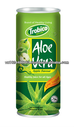 Aloe vera juice drink with apple flavor by super manufactory from Viet Nam