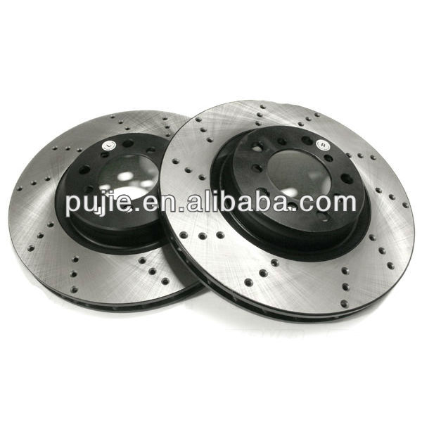 Front Cross Drilled Brake Rotor