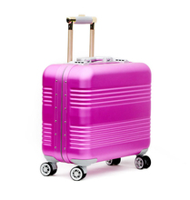 Aluminum magnesium alloy trolley luggage, Aluminium magnesium metal laptop cabin suit case, rolling wheeled travel suitcase