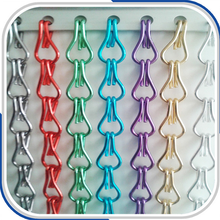 Popular decorative aluminum chain link curtain for home