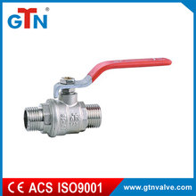 "Supplier thread water durable 3/4"" butterfly valves ART231V-A M/M brass ball valve"