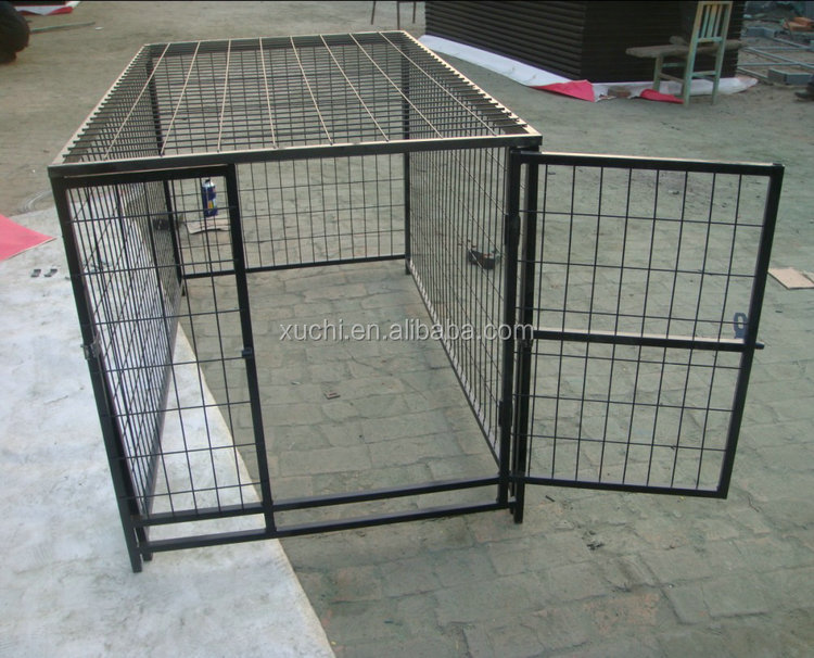 Modular pet kennel ,Welded dog run with roof