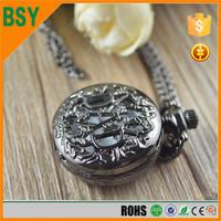 BoShiYa 2016 Best festival gift Halloween pocket watch necklace,cartoon pocket watch