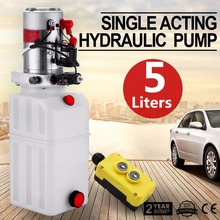 12V DC Single Acting Hydraulic Pump Power Unit Pack(Tipper/Trailer) with 5L Tank