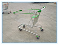 Spanish style high quality zinc plated shopping cart with four wheels