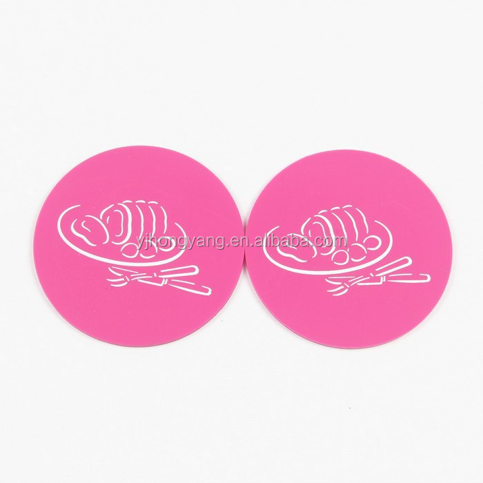 Silicone cup mat cups pad and trviet