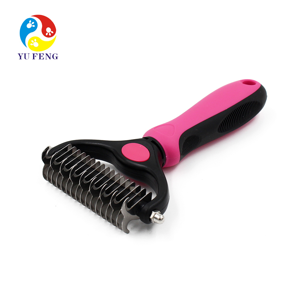 Pet Grooming Brush Self Cleaning Slicker Brushes Best Shedding Tools for Grooming Cat Dog Long & Thick Hair