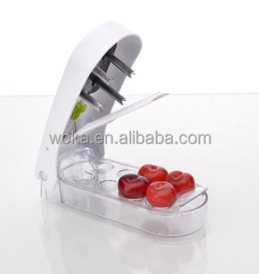 amazon hot selling Plastic Cherry Pitter remove cherry core with stainless steel blade manual cherry pitter core TV