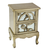 hight quality gold mirrored chest of drawer,antique wood home furniture