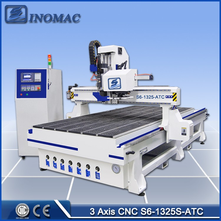 Cnc Router Woodworking Machinery S6-1325S-ATC Processing Center