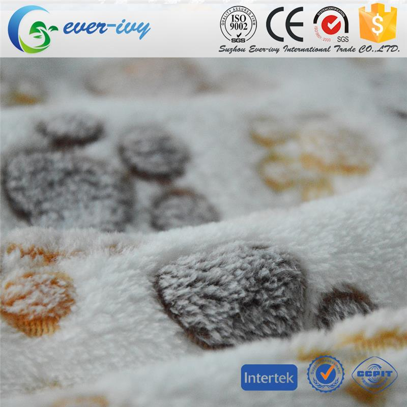 Professional cow print fleece fabric made in China ever-ivy
