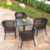 Wholesale outdoor high quality plastic rattan used coffee shop table and chair