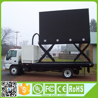 1/4 scan 10000 dots/sqm full color p6 p10 outdoor truck mobile led display