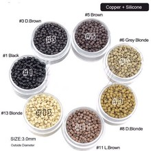 copper and silicone 2mm micro rings for hair salon
