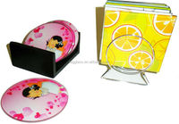 tempered glass Mats & Pads Table Decoration and Accessories Type Coasters