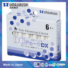Made in Japan UMAJIRUSHI DC Chalk Deluxe Non toxic Dustless Premium School Chalk DX351 White in Pocket size of 6 pcs
