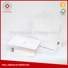 New general style wholes grey white kraft paper bag with twist handle for food