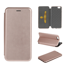 For iphone 7 leather back cover Seamless edge business stand leather phone case