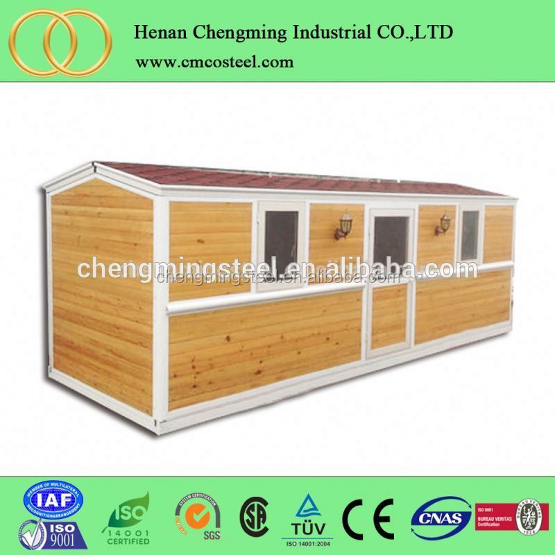 2016 new type flat back 16ft tiny houses/pre-built wooden cottage/cabin made in China