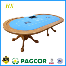 High Quality Solid Wooden Texas Poker Table with Extra Table Top