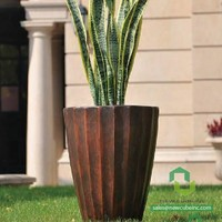 Fiberglass Flower Pots Medium Tall Planter Box