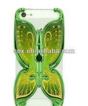 Wholesale - Butterfly Shaped Hard PC Electroplate Case Holder For iphone 4 4S 4G