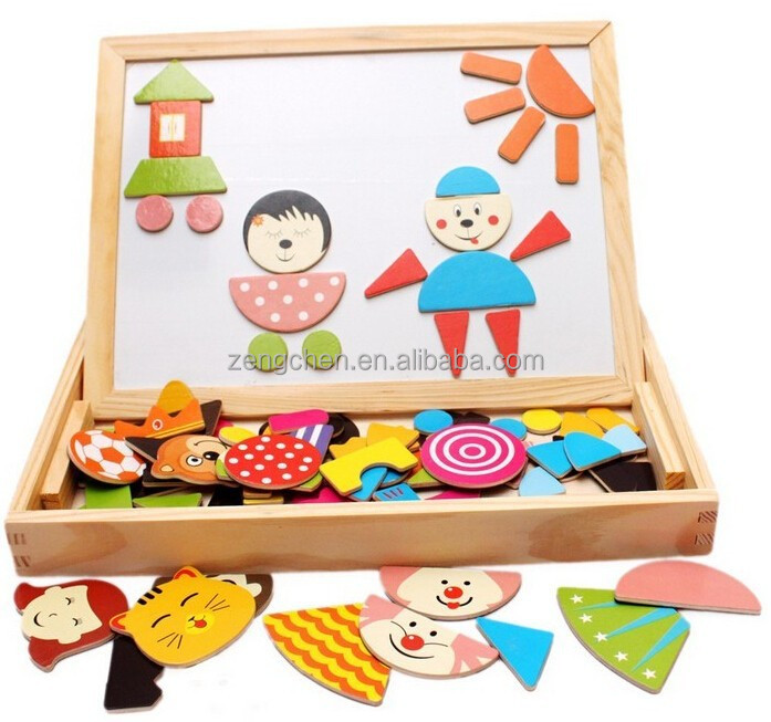 Newest educational wooden magnet puzzle <strong>game</strong> ,magnetic puzzle toy