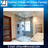 Fashion clear frameless glass shower room