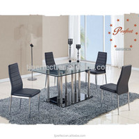 New Luxury Modern Tempered Glass Dining