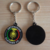 rubber ice hockey puck keychain/keyring