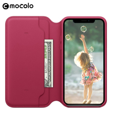 Mocolo Hot Sale New Mobile leather Case Phone Cover With Card Slot For Iphone X 8 PLUS