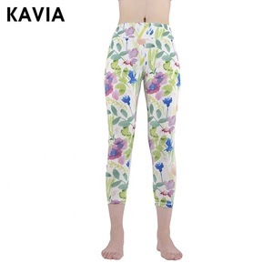 Sexy leggings stretch bright colored flower floral print yoga pants