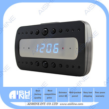 New arrival indoor wifi mini table clock camera h.264 digital video recorder/ip hd cctv camera system