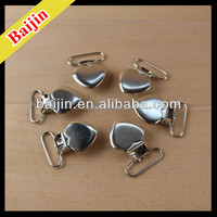 Own factory with Latest fashion Heart pattern Suspender iron clips