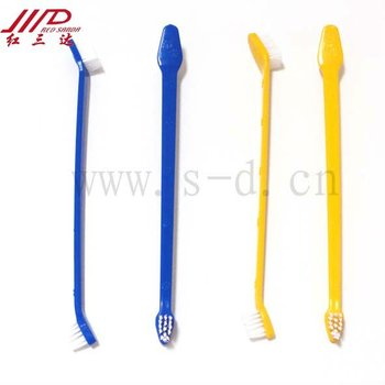 plastic long handle pet toothbrush