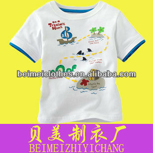 boy's T-shirts cartoon white funny pajamas baby doll t shirts wholesale
