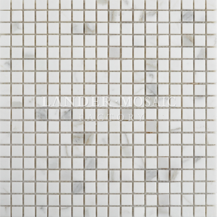 white color marble mosaic from italy exterior wall stone tile china factory