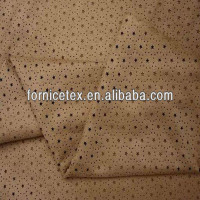 2016 Hot sale customized fancy knitted punch double sided suede fabric