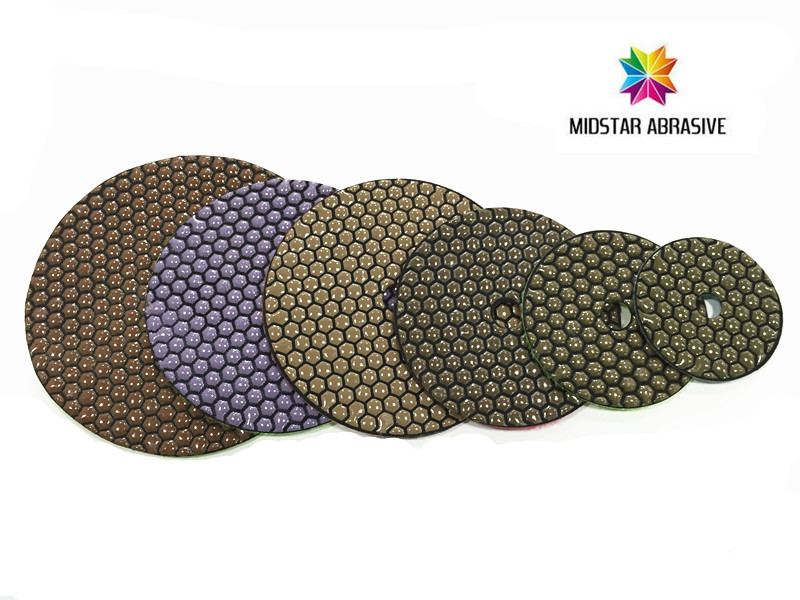 MIDSTAR hexangular dry stone polishing pads